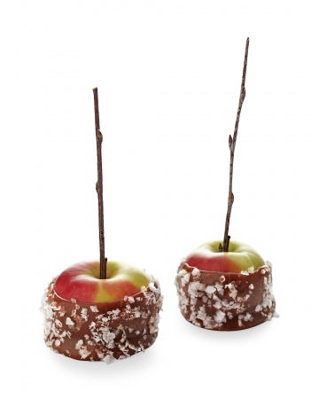 Updated Fall Treat:  Salted Caramel Apples