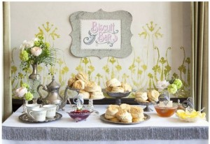 Biscuit Bar with gravy and jellies