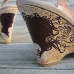 Painted Wedding Shoes